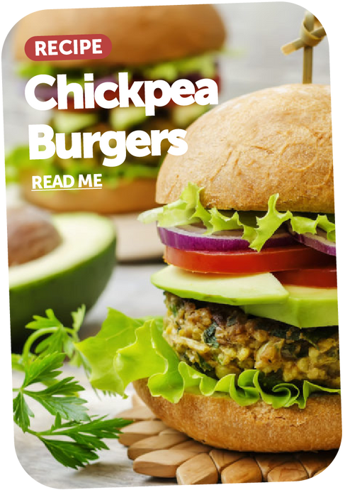Chickpea burger recipe with simple slaw