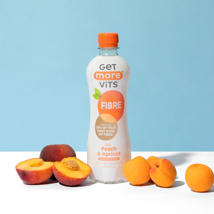 Get More Vits Fibre - Still Peach & Apricot - 500ml Bottle (Pack of 12)
