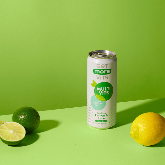 Get More Multivitamin Can - Sparkling Lemon & Lime - 330ml Can (Pack of 12)