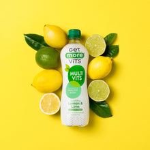 Load image into Gallery viewer, Get More Multivitamins - Sparkling Lemon & Lime - 500ml Bottle (Pack of 12)