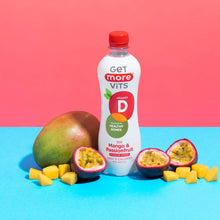 Load image into Gallery viewer, Get More Vitamin D - Still Mango & Passionfruit - 500ml Bottle (Pack of 12)