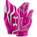 Adult Pink Wide Receiver Inexpensive Gloves