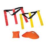 10 Player Red/Yellow Kids-Adult Backyard Flag Football Set