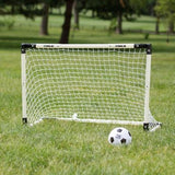 Ages 5+ - Quick Set-Up Kids Plastic Portbale Soccer Goal and Ball Set