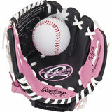 "9"" Youth Pink Tee Ball Glove with Ball - Right Hand Thrower"