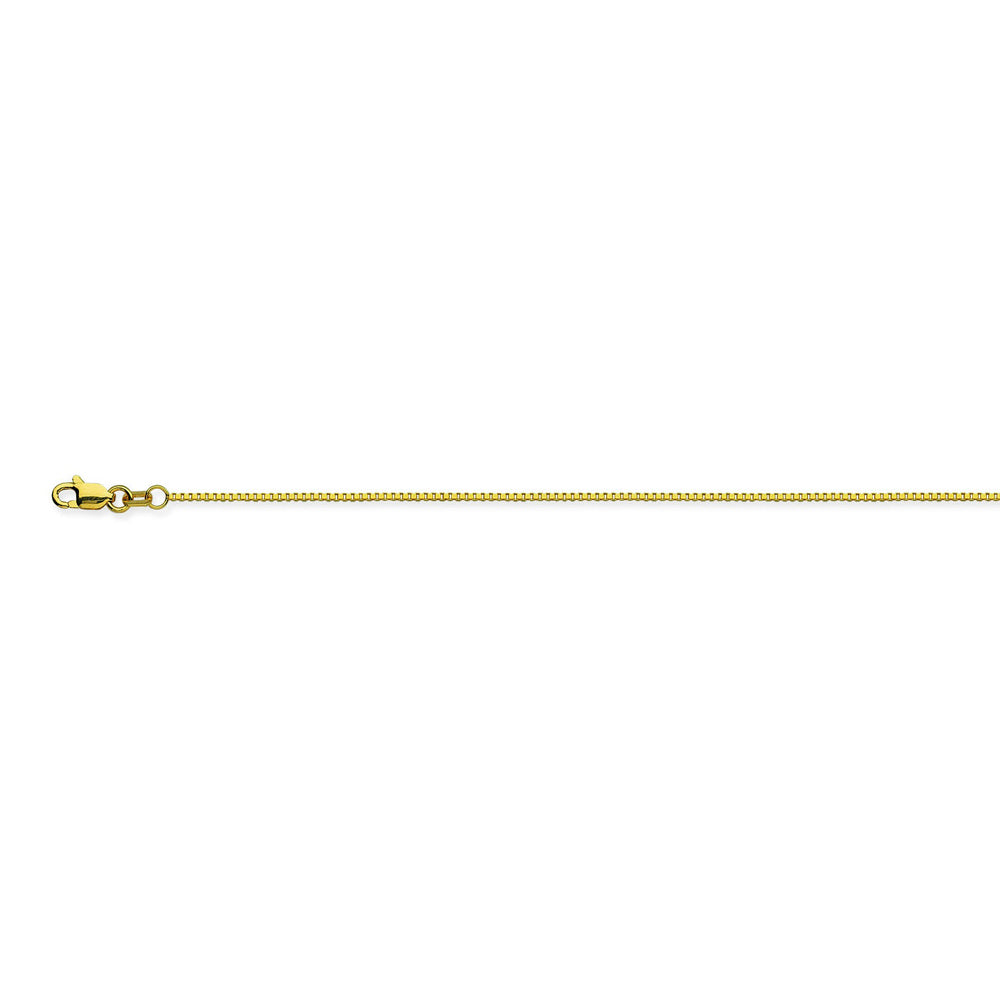 14K Yellow Gold 0.96 Box Chain in 16 inch, 18 inch, 20 inch, 22 inch, 24 inch, & 30 inch