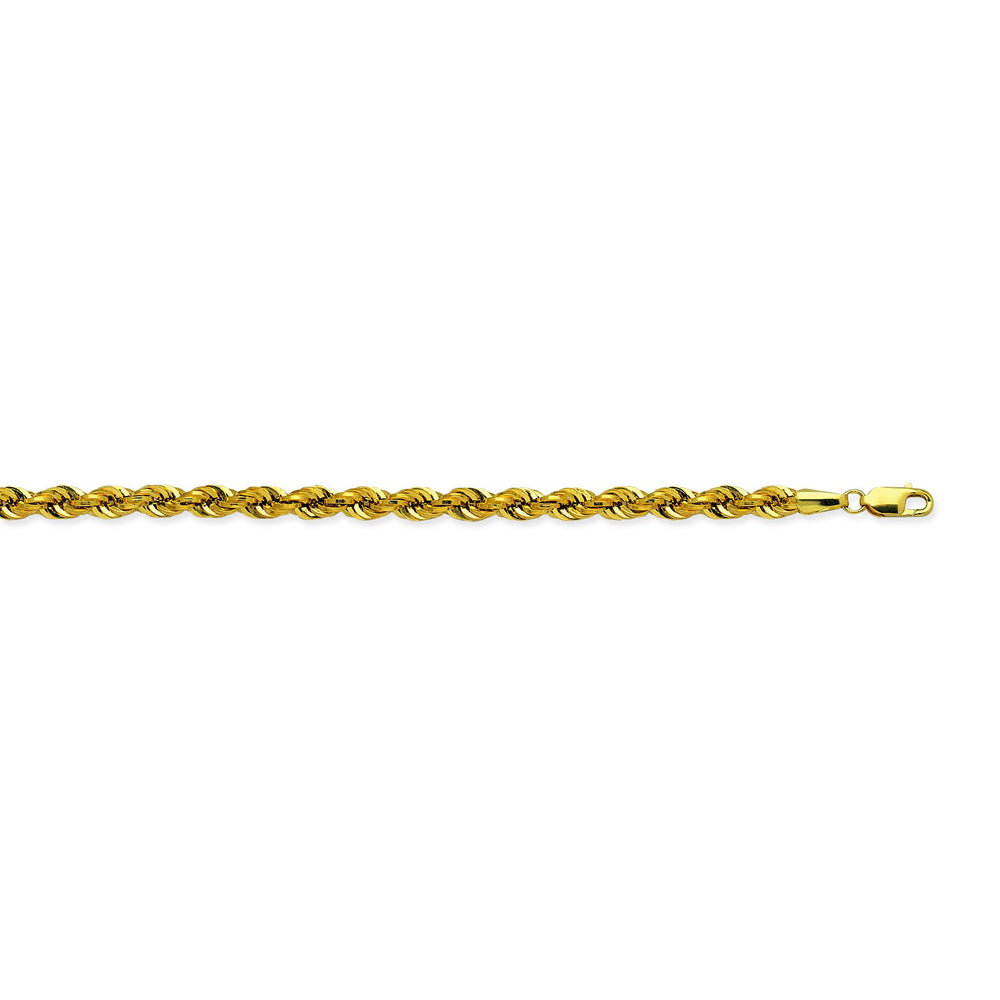 14K Yellow Gold 4 Light Rope Chain in 8 inch, 18 inch, 20 inch, 22 inch, 24 inch, & 30 inch