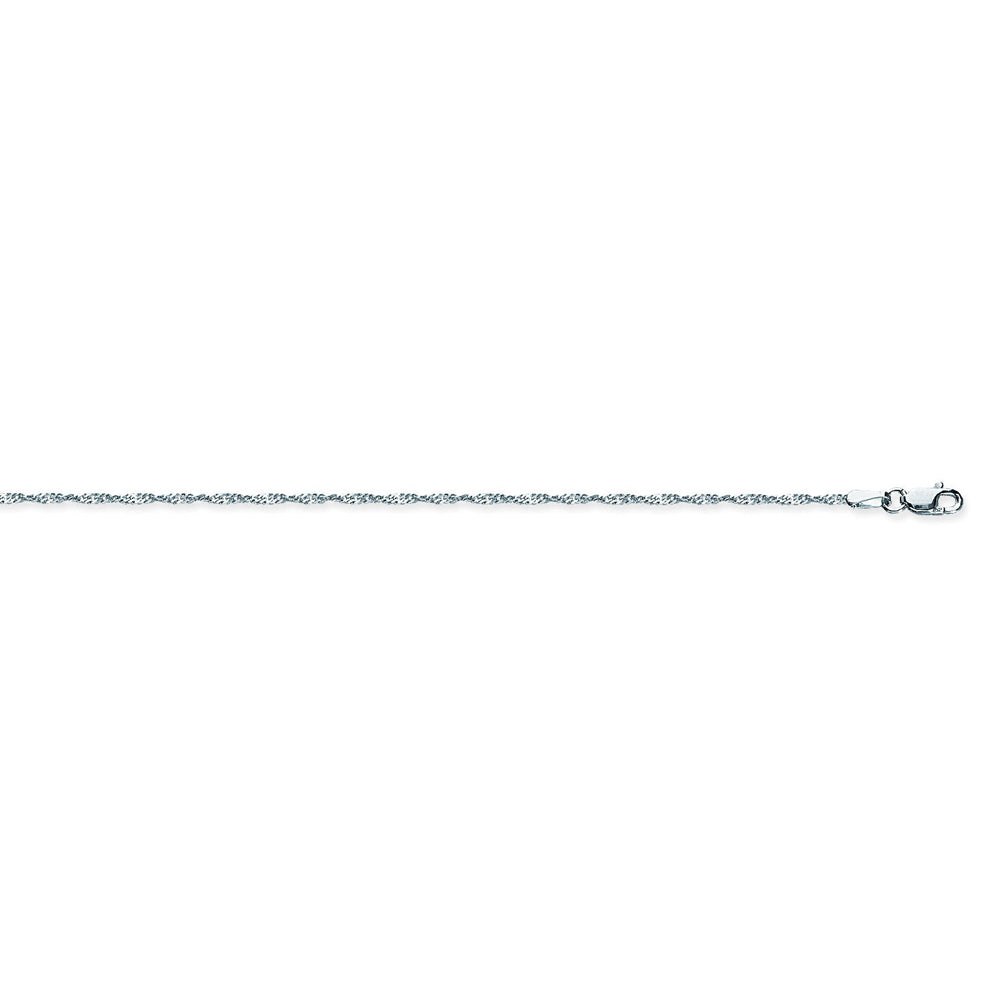 925 Sterling Silver 1.4 Singapore Chain in 16 inch, 18 inch, 20 inch, & 24 inch