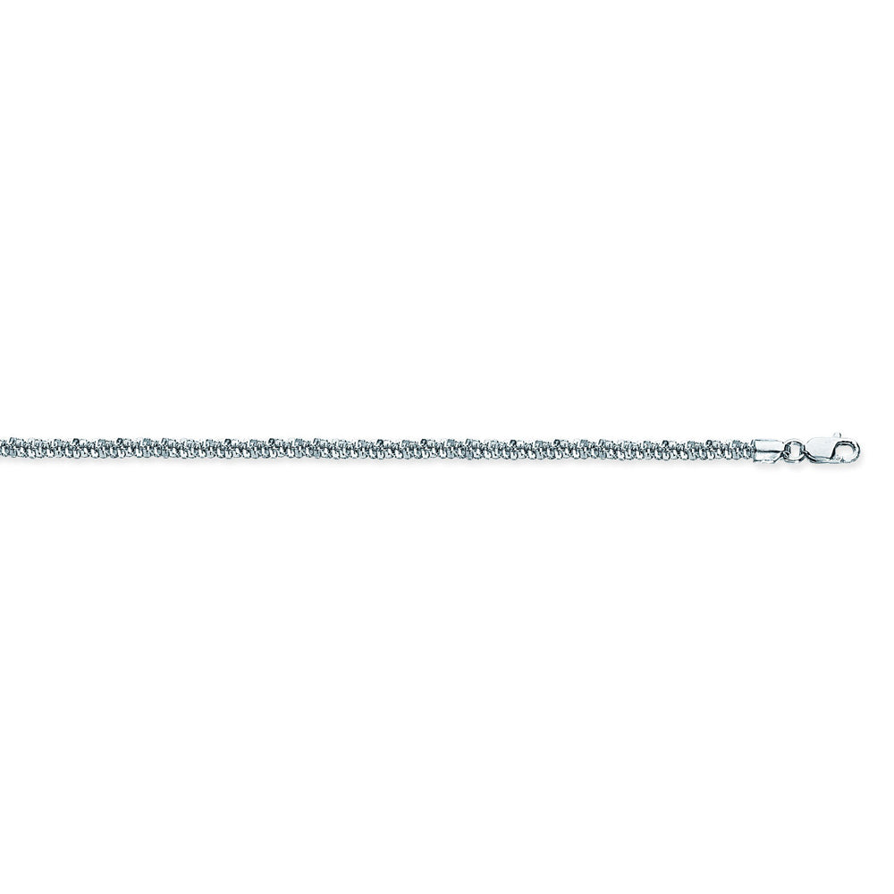 925 Sterling Silver 2.9 Sparkle Chain in 18 inch, 20 inch, & 24 inch