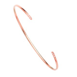 14K Rose Gold Diamond Cuff Diamond Bangle