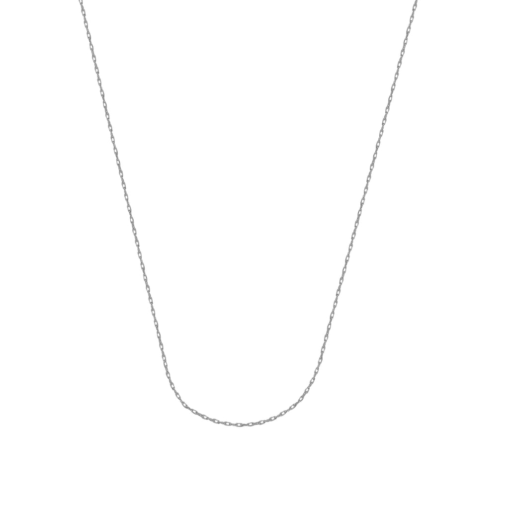 10K White Gold 0.85 Rope Chain in 16 inch, 18 inch, & 20 inch