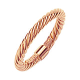 14K Rose Gold Twisted Rope Ring