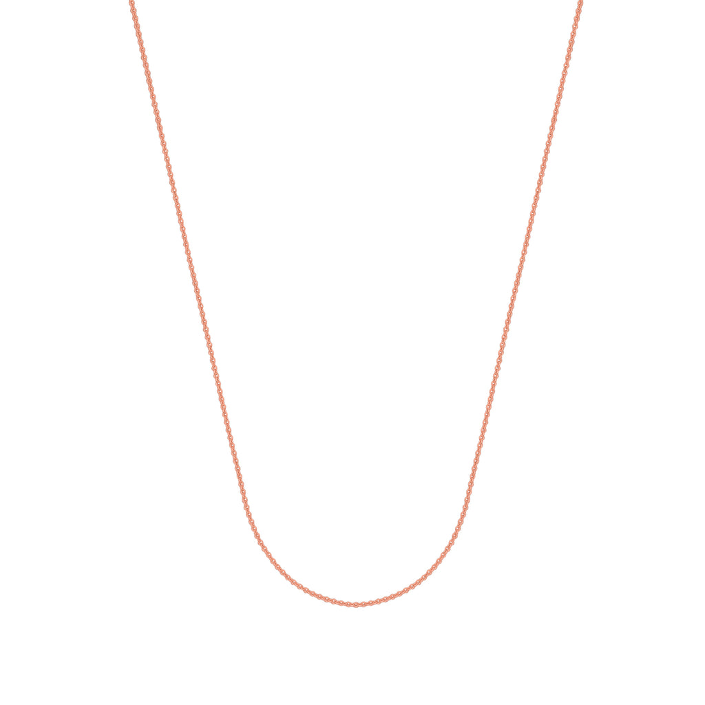 925 Rose Sterling Silver 1.5 Cable Chain in 16 inch, 18 inch, 20 inch, & 24 inch
