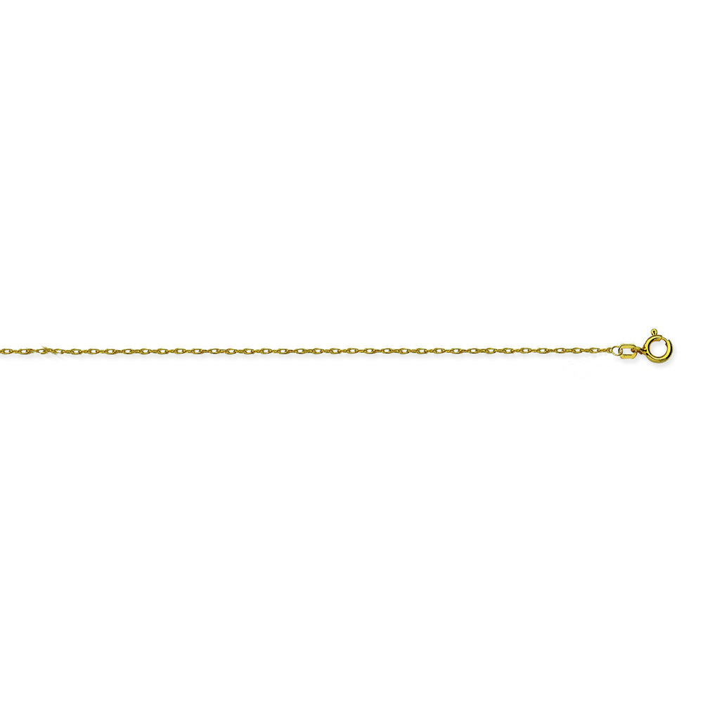 10K Yellow Gold 1.2 Rope Chain in 16 inch, 18 inch, & 20 inch