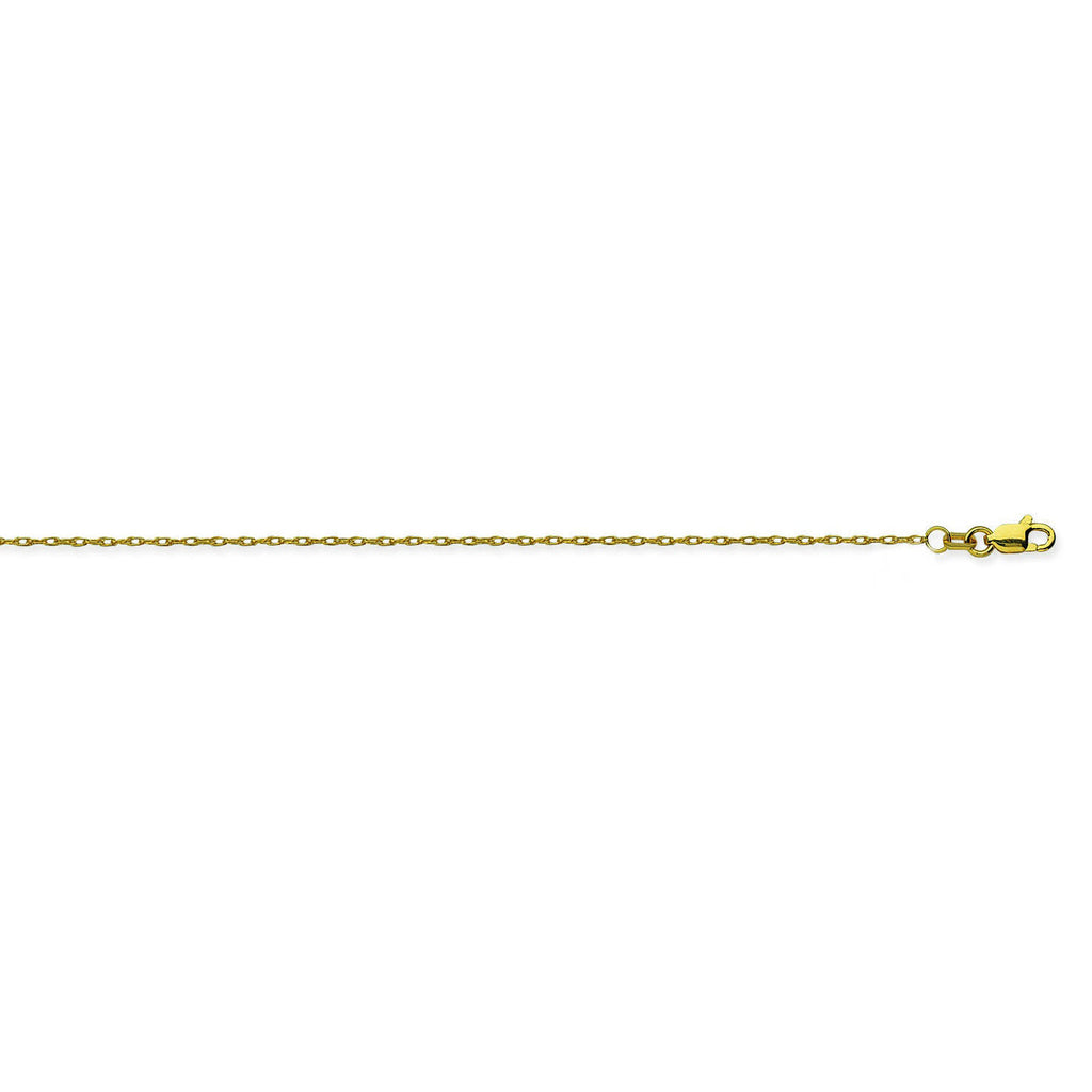 14K Yellow Gold 1.2 Light Rope Chain in 16 inch, 18 inch, & 20 inch