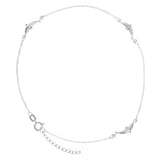 "14K White Gold Dolphin Anklet Adjustable 9"" to 10"" length"