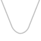 925 Sterling Silver 3.5 Box Chain in 22 inch, 24 inch, & 30 inch