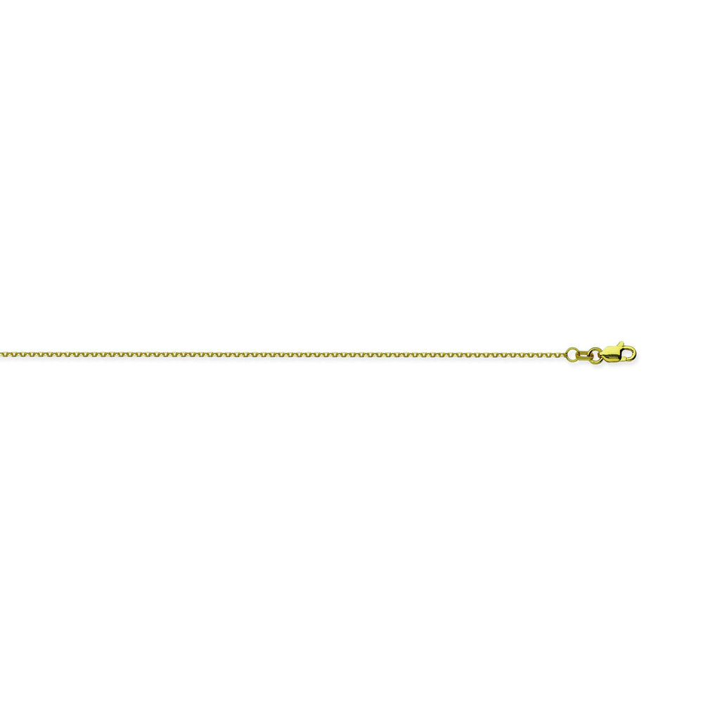 10K Yellow Gold 0.8 Diamond Cut Cable Chain in 20 inch, 18 inch, 16 inch, & 24 inch