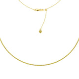 "14K Yellow Gold Textured Bead Links Choker Necklace. Adjustable 10""-16"""