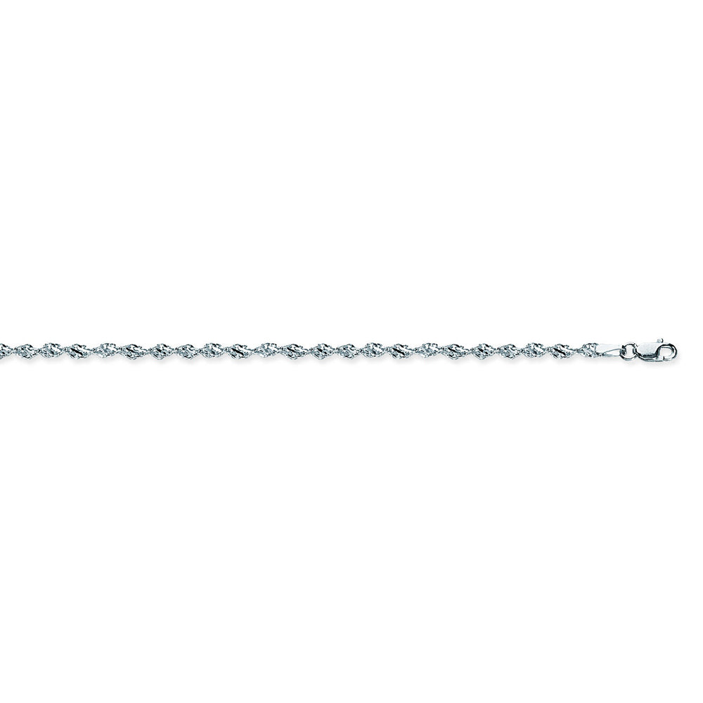 925 Sterling Silver 2.9 Dorica Chain in 16 inch, 18 inch, & 20 inch