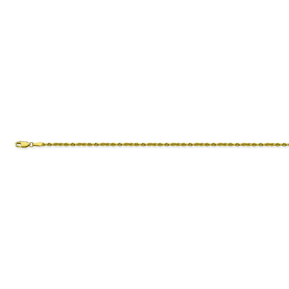 14K Yellow Gold 1.56 Diamond Cut Rope Chain in 16 inch, 18 inch, 20 inch, & 24 inch