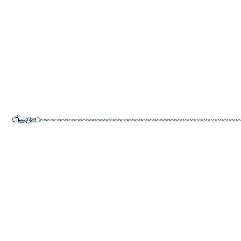 10K White Gold 1.05 Diamond Cut Cable Chain in 18 inch, 20 inch, & 24 inch