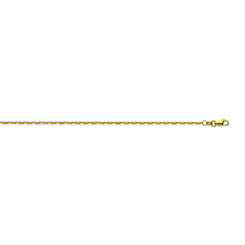 14K Yellow Gold 1.25 Anchor Chain in 16 inch, 18 inch, 20 inch, 22 inch, & 24 inch