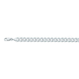 14K White Gold 6.7 Curb Chain in 20 inch, 22 inch, 24 inch, & 8.5 inch