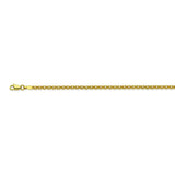 14K Yellow Gold 2.5 Rolo Chain in 16 inch, 18 inch, 20 inch, & 24 inch