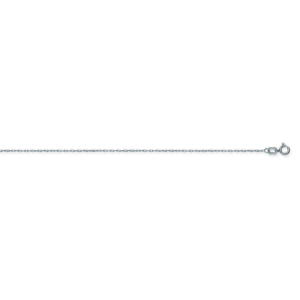 14K White Gold 0.85 Light Rope Chain in 16 inch, 18 inch, & 20 inch