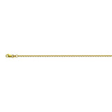 14K Yellow Gold 1.5 Diamond Cut Cable Chain in 16 inch, 18 inch, 20 inch, 24 inch, & 30 inch