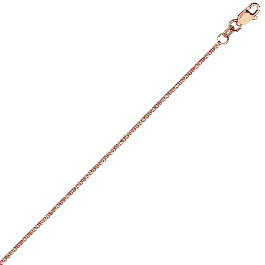 14K Rose Gold 1.02 Round Wheat Chain in 16 inch, 18 inch, & 20 inch