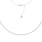"14K White Gold Textured Bead Links Choker Necklace. Adjustable 10""-16"""