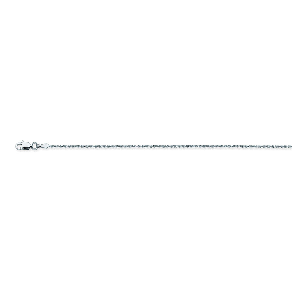 14K White Gold 1.05 Diamond Cut Rope Chain in 18 inch, 20 inch, 22 inch, & 24 inch