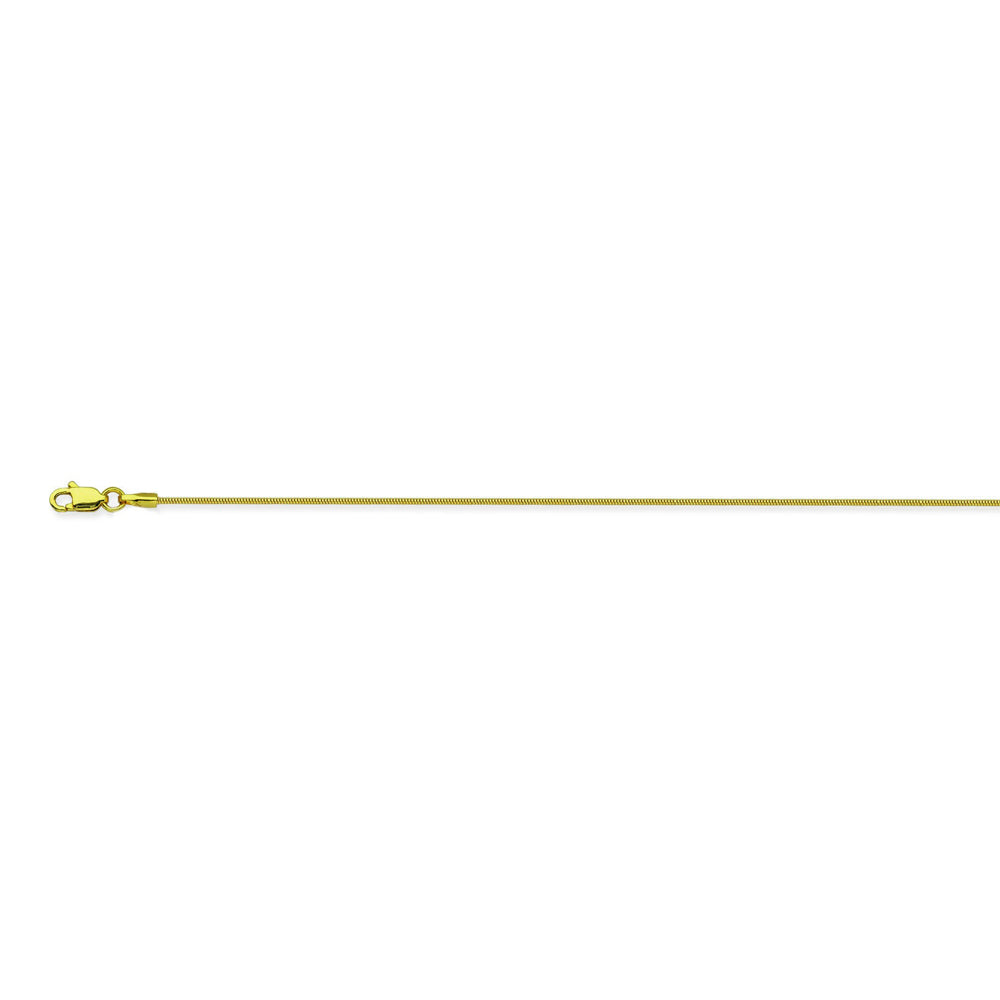 14K Yellow Gold 1 Snake Chain in 18 inch, 20 inch, 16 inch, & 24 inch