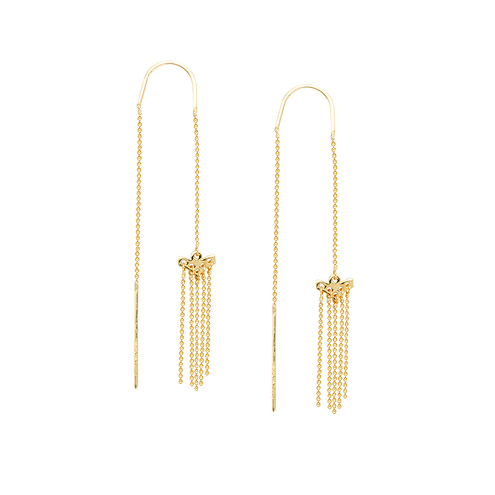 14K Yellow Gold Chandelier Style Threader Earring
