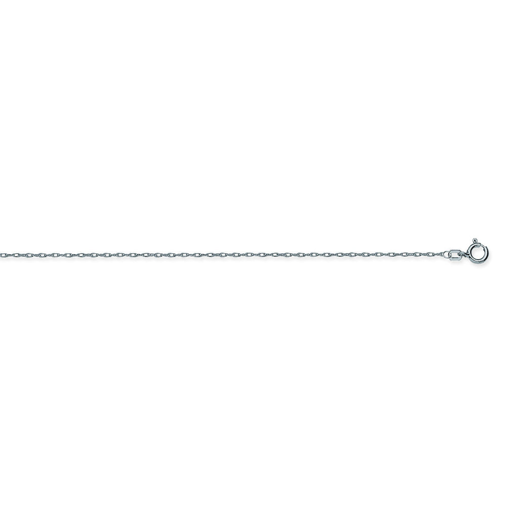 14K White Gold 5.5 Light Rope Chain in 16 inch, 18 inch, & 20 inch