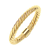 14K Yellow Gold Twisted Rope Ring