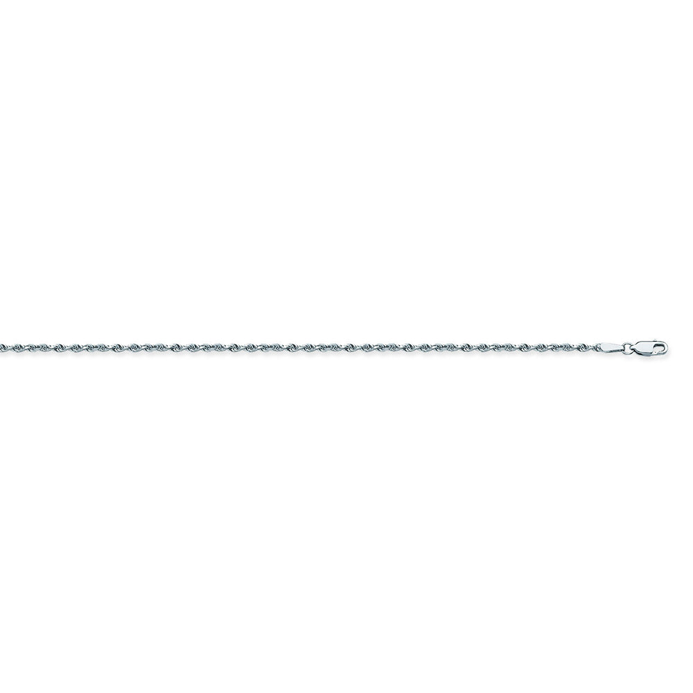 925 Sterling Silver 1.3 Diamond Cut Rope Chain in 16 inch, 18 inch, 20 inch, & 24 inch