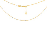 "14K Yellow|White Gold Mini Beads Saturn Chain Choker Necklace. Adjustable 10""-16"""