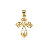 14K Yellow Gold Filigree Style Cross Pendant