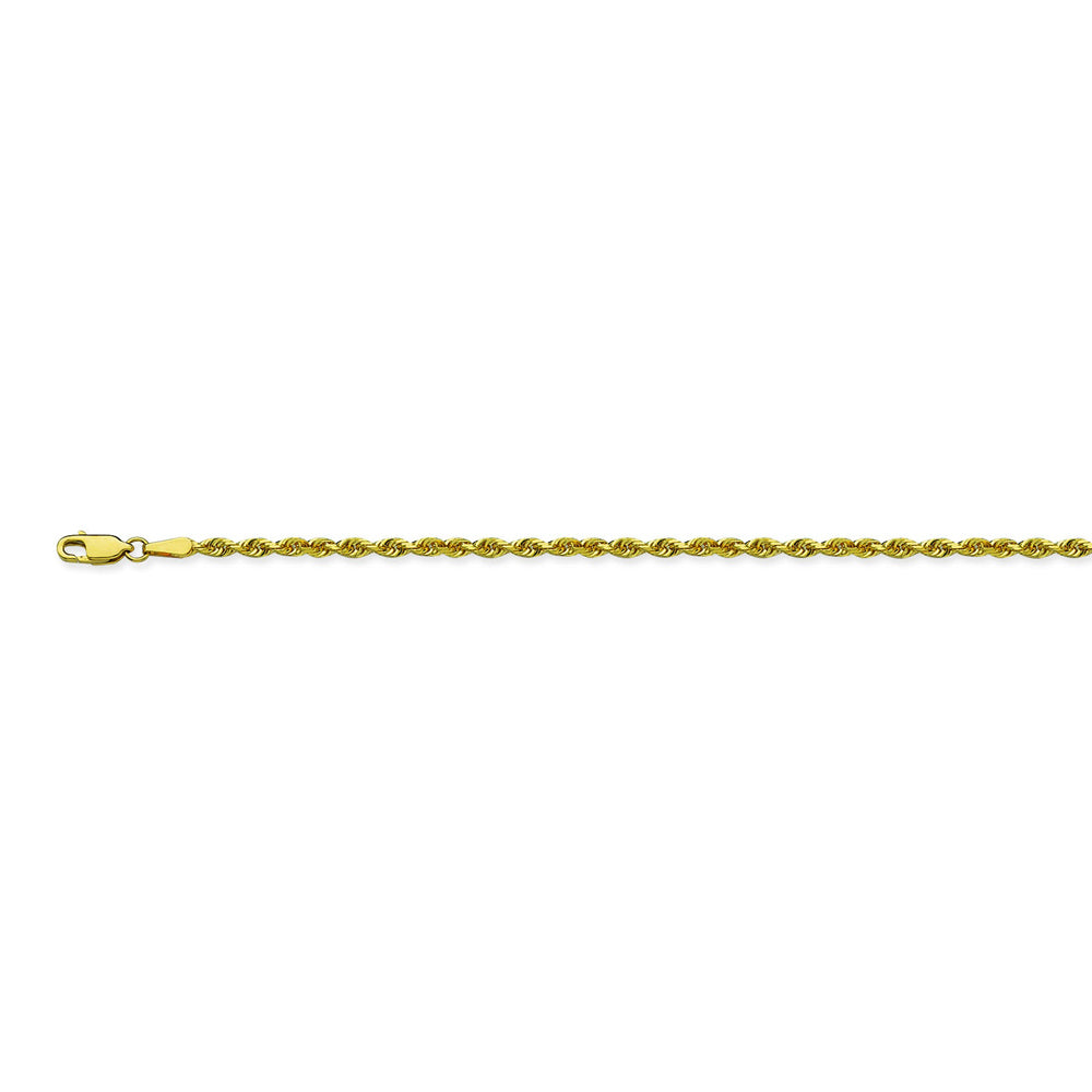 14K Yellow Gold 2.3 Diamond Cut Rope Chain in 18 inch, 20 inch, 22 inch, & 24 inch