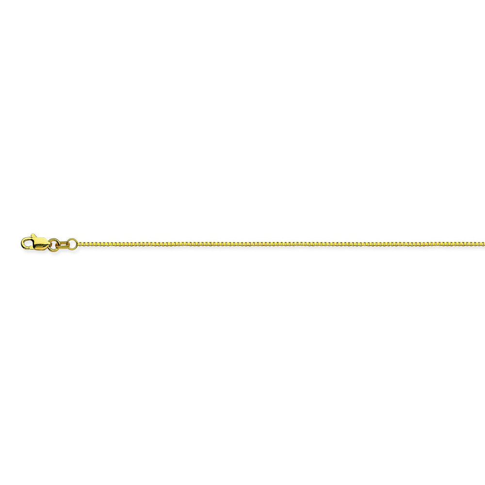 18K Yellow Gold 0.96 Box Chain in 16 inch, 18 inch, & 20 inch