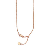 "22"" Adjustable Sparkle Chain Necklace with Slider 14K Rose Gold 1.15 mm 2.85 grams"