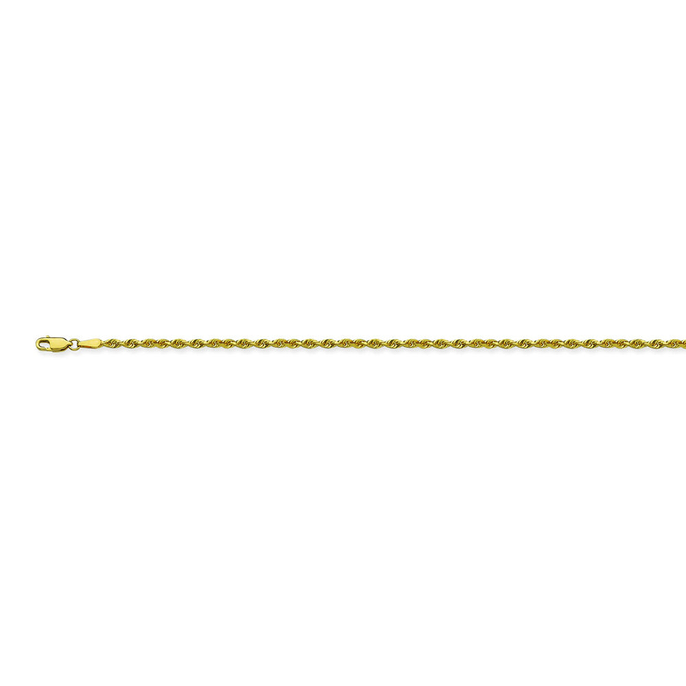 14K Yellow Gold 1.8 Diamond Cut Rope Chain in 16 inch, 18 inch, 20 inch, 22 inch, & 24 inch