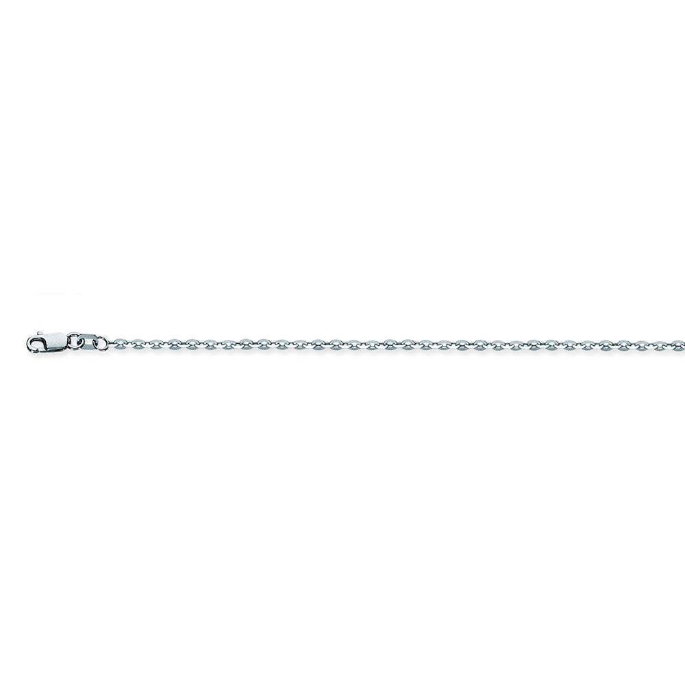 925 Sterling Silver 1.9 Brill Cable Chain in 16 inch, 18 inch, 20 inch, & 24 inch