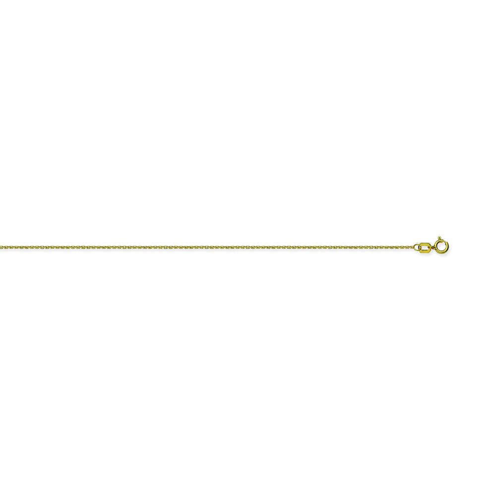 10K Yellow Gold 0.65 Diamond Cut Cable Chain in 16 inch, 18 inch, & 20 inch