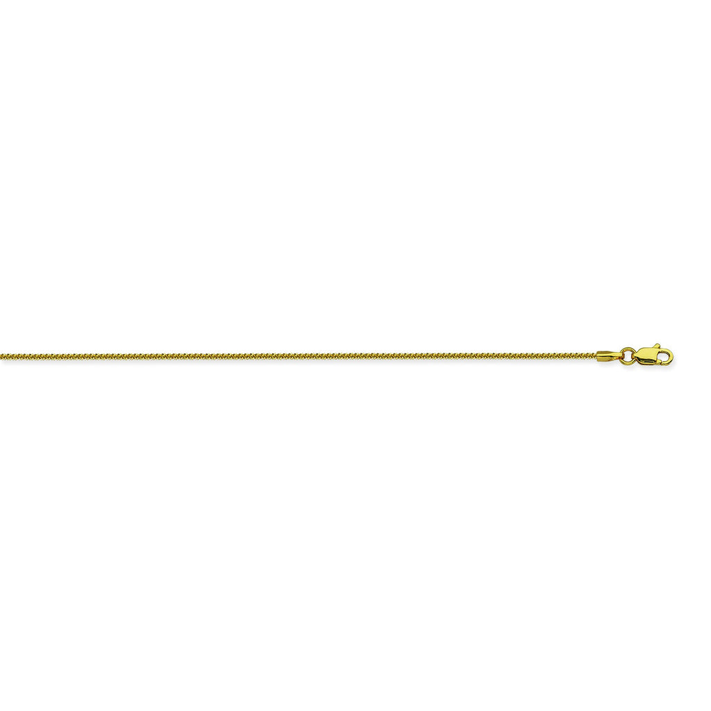 14K Yellow Gold 1.15 Sparkle Chain in 16 inch, 18 inch, & 20 inch