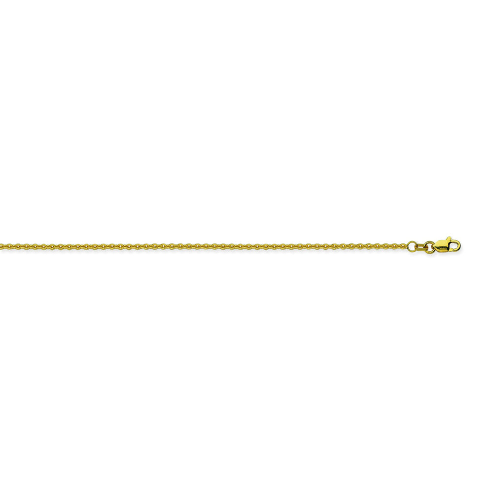 14K Yellow Gold 1.5 Cable Chain in 16 inch, 18 inch, 20 inch, 24 inch, & 30 inch