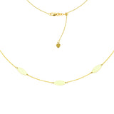 "14K Yellow Gold Flat Marquise Plates Choker Necklace. Adjustable 10""-16"""